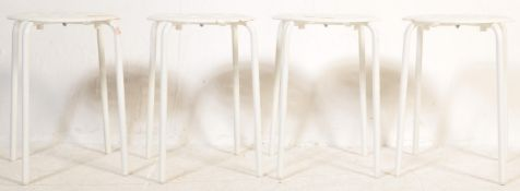 MATCHING SET OF FOUR CONTEMPORARY STOOLS