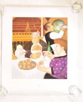 BERYL COOK - DINING PARIS - LIMITED EDITION SIGNED PRINT
