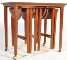 RETRO VINTAGE TEAK WOOD NEST OF TABLES