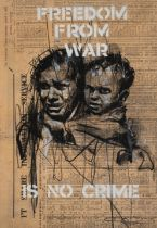 GUY DENNING (BRITISH) FREEDOM FROM WAR (WOMAN & CHILD) 2021