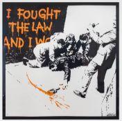 BANKSY (BRITISH, B.1974) I FOUGHT THE LAW, 2004