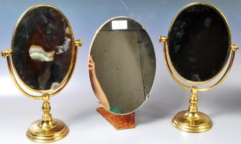 SELECTION OF THREE VINTAGE TABLE / COUNTER TOP MIRRORS