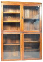 LARGE LATE 19TH CENTURY VICTORIAN GLAZED DOUBLE CABINET