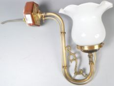 EARLY 20TH CENTURY CONVERTED GAS WALL SCONCE LAMP