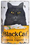 1930'S BLACK CAT PURE MATURED CIGARETTES ADVERTISING SIGN