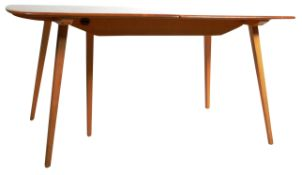 ERCOL GRAND PLANK EXTENDING BEECH AND ELM DINING TABLE