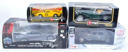 COLLECTION OF X4 ASSORTED LARGE SCALE DIECAST MODEL CARS