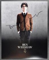 """JAMES BOND - BEN WISHAW (Q) - SIGNED 8X10"""" COLOUR"""