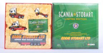 ORIGINAL BOXED CORGI EDDIE STOBART SCANIA DIECAST BOXSET