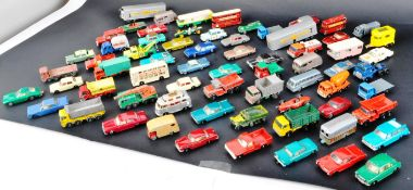LARGE COLLECTION OF VINTAGE LESNEY DIECAST MODEL CARS
