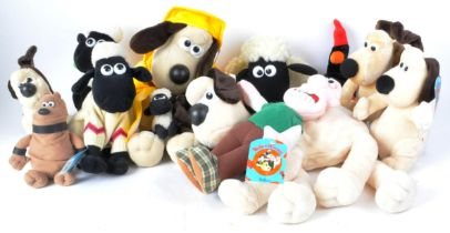 WALLACE & GROMIT - COLLECTION OF VINTAGE STUFFED TOYS