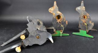 VINTAGE FAIRGROUD SHOOTING RANGE / AIR RIFLE METAL TARGETS