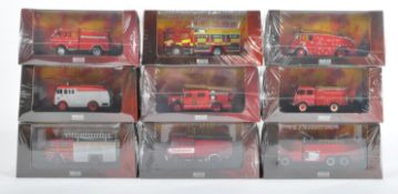 COLLECTION OF ATLAS EDITIONS DIECAST FIRE ENGINES