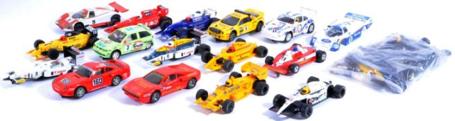 COLLECTION OF ASSORTED SCALEXTRIC SLOT RACING CARS