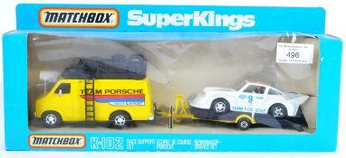 ORIGINAL VINTAGE MATCHBOX SUPERKINGS K102 RACE SUPPORT SET