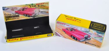 THUNDERBIRDS - DINKY TOYS 100 FAB 1 AUTOGRAPHED MODEL BOX