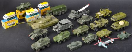 LARGE COLLECTION OF ASSORTED VINTAGE DIECAST MILITARY VEHICLES