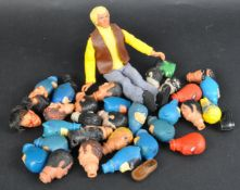 MEGO - LARGE COLLECTION OF VINTAGE 1960S / 70S ACTION FIGURE HEADS