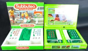 TWO ORIGINAL VINTAGE SUBBUTEO TABLE TOP FOOTBALL GAME SETS