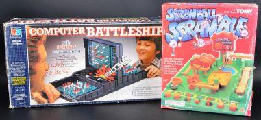 VINTAGE SCREWBALL SCRAMBLE & COMPUTER BATTLESHIP TABLETOP GAMES