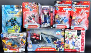 COLLECTION OF ASSORTED TRANSFORMER PLAYSET ACTION FIGURES