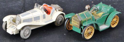 TWO ORIGINAL VINTAGE GERMAN SCHUCO CLOCKWORK MICRO RACER CARS