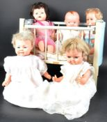 COLLECTION OF ASSORTED VINTAGE HARD PLASTIC & RUBBER DOLLS
