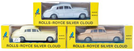 COLLECTION OF X3 VINTAGE BUDGIE MODELS DIECAST CARS