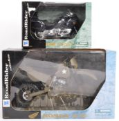 TWO NEW RAY ROADRIDER DIECAST MODEL MOTORCYCLES