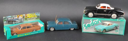 COLLECTION OF X3 VINTAGE FRICTION MOTOR TOY CARS