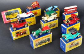 COLLECTION OF X10 VINTAGE LESNEY MATCHBOX MODELS OF YESTERYEAR