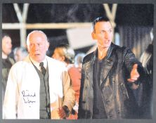 """DOCTOR WHO - RICHARD WILSON - LARGE 16X12"""" SIGNED PHOTOGRAPH"""
