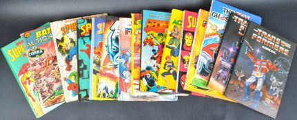 COLLECTION OF ASSORTED VINTAGE SUPERHERO COMIC BOOK ANNUALS