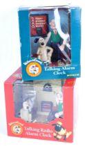 WALLACE & GROMIT - BOXED WESCO TALKING ALARM CLOCKS
