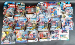 LARGE COLLECTION OF CAPTAIN AMERICA CARDED ACTION FIGURES