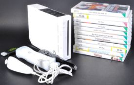 NINTENDO WII CONSOLE, CONTROLLERS AND A COLLECTION OF GAMES