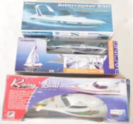 COLLECTION OF X3 VINTAGE RADIO CONTROLLED RC BOATS