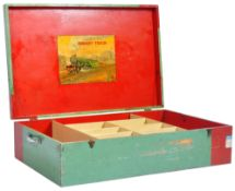 VINTAGE 1930S LARGE HORNBY TRAINS WOODEN BOX