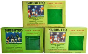 COLLECTION OF X3 ORIGINAL VINTAGE SUBBUTEO TABLE TOP FOOTBALL SETS