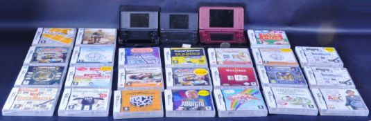 COLLECTION OF NINTENDO DS HANDHELD CONSOLES AND GAMES