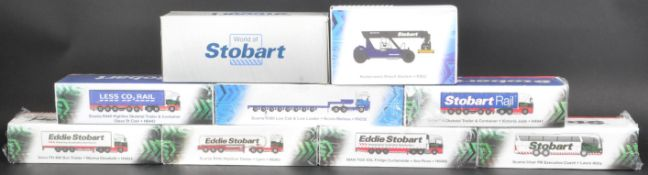 COLLECTION OF ATLAS EDITIONS EDDIE STOBART DIECAST MODELS