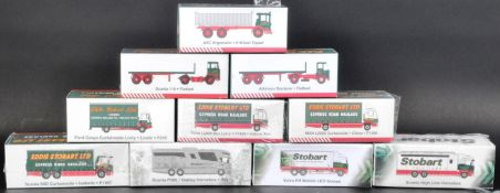 COLLECTION OF X10 ATLAS EDITIONS EDDIE STOBART DIECAST MODELS