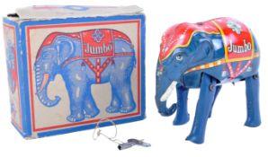 SCARCE BLOMER & SCHULER TINPLATE CLOCKWORK JUMBO ELEPHANT