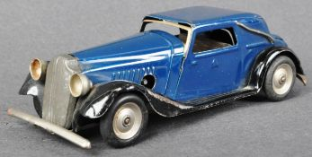 VINTAGE TRIANG MINIC TINPLATE CLOCKWORK MODEL SALOON CAR