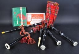 SET OF VINTAGE CHILDRENS BAG PIPES AND TUTORIAL BOOKS