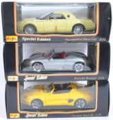 COLLECTION OF X3 MAISTO SPECIAL EDITION 1/18 SCALE DIECAST MODELS