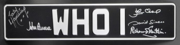 DOCTOR WHO - THE DAEMONS - AUTOGRAPHED PROP REPLICA BESSIE NUMBERPLATE