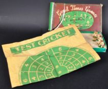 GOOD TIMES GAMES - VINTAGE C1940S LEAD TEST MATCH CRICKET GAME