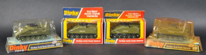 COLLECTION OF X4 VINTAGE DINKY TOYS DIECAST MILITARY MODELS