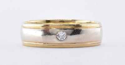 9CT TWO TONE GOLD & DIAMOND RING